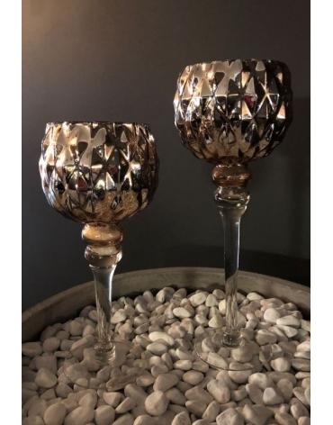 Zeltīti svečturi divos izmēros